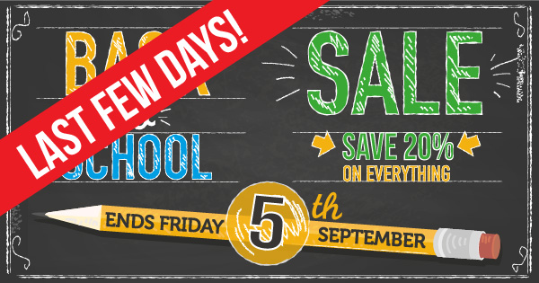 Back to School Sale – save 20% on all our courses