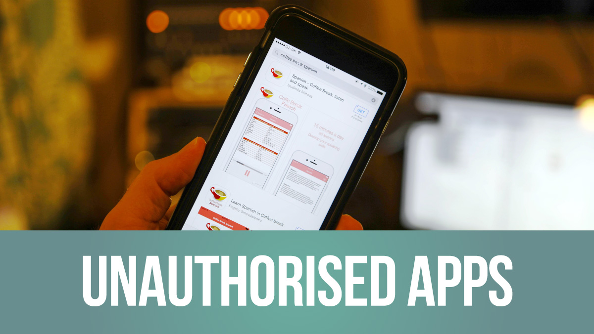 Unauthorised Coffee Break Apps