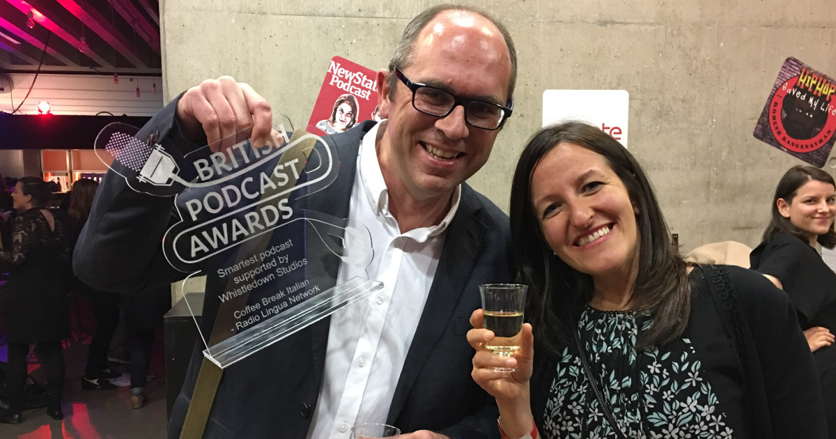 Coffee Break Italian wins British Podcast Award